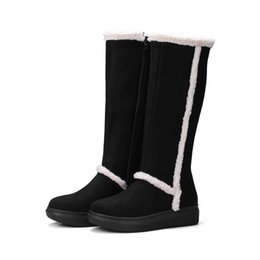 $enCountryForm.capitalKeyWord UK - 2019 Warm Shoes Women Fashion Brand Mad Calf Snow Boots Winter Lady chaussure Female Patchwork footware Flock Black with Fur