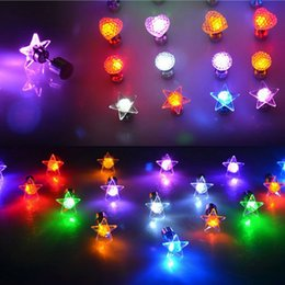 Wholesale Star Heart Round Shaped Light Up Led Earrings Shinning Ear Studs for Dance Club Halloween Christmas Party