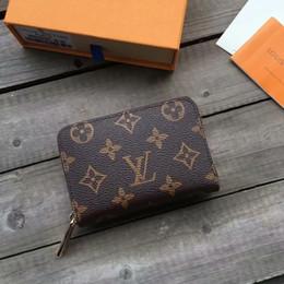 marca de lujo de la carpeta para hombre mujeresLVtarjeta de crédito cartera monedero de cuero titular de carteras bolsos del diseñador bolsos en venta