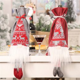 $enCountryForm.capitalKeyWord Australia - Christmas New Wine Bottle Set Creative Table Red Wine Bottle Decorative Set Simulation Beard Gift Bag 2019 @A
