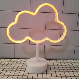 Bedroom Neon Signs Australia - OHANEE Custom fit Cloud led tube Neon Sign Light home bedroom wedding festival decoration Arts Crafts birthday Gifts Lighting