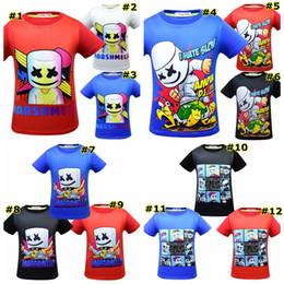 Product Brand Color Australia - DJ Marshmello print T-shirts baby shirt Tops cartoon children Tees 12 styles fashion product Kids Clothing MMA1539