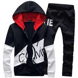 Großhandel Männer Trainingsanzug Mode Zwei Stücke Sets Casual Male 2018 Sweatshirt Anzüge für Männer Plus Größe 5XL Hoodies sweatshirts dropship