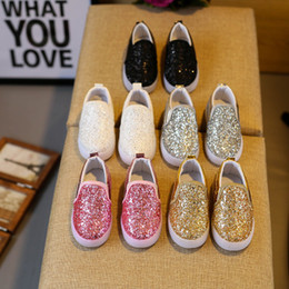 Korean new shoe online shopping - New Children slides shoes Korean sequin LED Kids Sneakers baby Shoes For Girls Children Casual Shoes Fashion Footwear