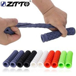 $enCountryForm.capitalKeyWord Australia - ZTTO Pure Silicone Gel Durable Shock-Proof Anti-Slip Grips for MTB Mountain Bike Road Bicycle Fixed Gear BMX with Bar Plug.