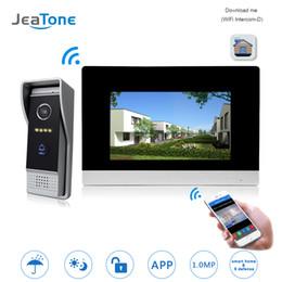 $enCountryForm.capitalKeyWord Australia - JeaTone WIFI IP Wireless Video Door Phone Intercom Door Bell Access Control System Touch Screen Motion Detection support Smoke Sensor