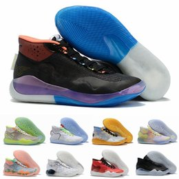 shoes new zoom kd Australia - New Zoom KD 12 Mens Basketball Shoes EYBL Peach Jam Dub Nation Wolf Grey Black Cement Kevin Durant KD12 12s Trainer Sport Sneakers