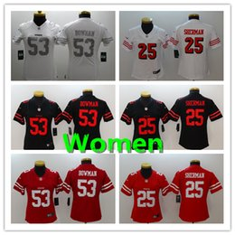 a2c7dce39 Women 53 NaVorro Bowman Jersey San Francisco 49ers Football Jersey Stitched  Embroidery 25 Richard Sherman Color Rush Women Football Shirt