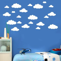 $enCountryForm.capitalKeyWord Australia - Drop Shipping Best Price31pcs DIY Large Clouds Wall Decals Children's Room Home Decoration Art wall sticker Decals