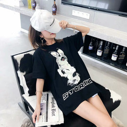 $enCountryForm.capitalKeyWord Australia - Hip-Hop Style Is Handsome Street BF And Popular Logo Cartoon Printed Animal Top Web Celebrity T-shirt Women Short Sleeve Loose New Spring