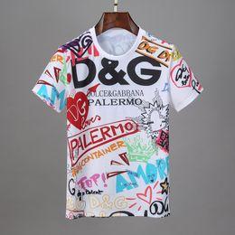Großhandel 2020 Sommer-Mode-Marken-Freizeit-T-Shirt mit hochwertiger Marke T-Shirt Männer-Straße s Luxus-Baumwollfreizeitmuster Kurzarm T-Shirt, Männer'