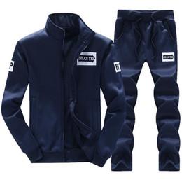 White Velour Suit Australia - Men Sportswear Hoodie And Sweatshirts Black White Autumn Winter Jogger Sporting Suit Mens Sweat Suits Tracksuits Set Plus Size M-4XL 418-22