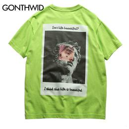 $enCountryForm.capitalKeyWord Australia - Gonthwid Funny Michelangelo Statue David Print Tshirts Streetwear 2019 Hip Hop Mens Short Sleeve Tops Tees Male Causal T Shirts Y19072201