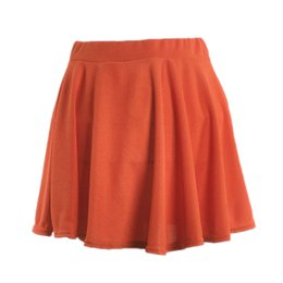 87e02adef Wholesale Flared Skirt UK - Newly Summer Women Mini Skirt Elastic Basic  Stretchy High Waist Lady