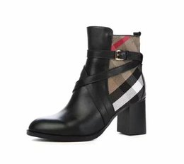 $enCountryForm.capitalKeyWord UK - New Fashion Women's Martin boots Real Leather shoes female Luxury design boots Ladies Knight boots #28