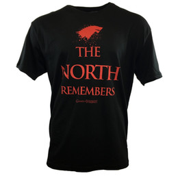 Chinese  Men's T-shirt -GAME OF THRONES-THE NORTH REMEMBERS House of Stark HBO NEW SEASON Funny free shipping Tshirt top manufacturers