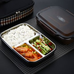 Green Box Containers Australia - Plastic Food Container 304 Stainless Steel Bento Box Leakproof Thermos Insulated Students Children Lunch Box Kitchen Tableware C18112301