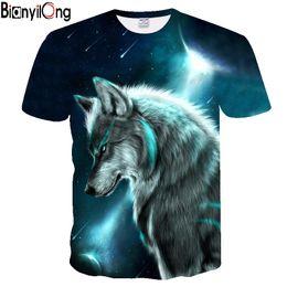 2ea5de42 Wolf meteor&moon printed T-shirt Men Tshirt Anger Shirts 3d T Shirt Hip Hop  Tee Animal Mens Clothing 2018 Summer Casual Tops