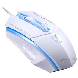 Chase lights online shopping - Leopard Chasing Light Colorful Shining Computer Wired USB Mouse Third Gear Adjustment Business Office Mouse