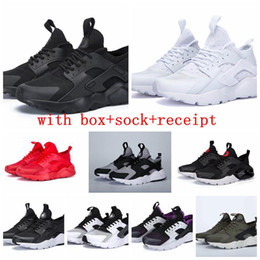 Hot Sale Men Women Air Huarache IV 4 Run Ultra Running Shoes Grey Red Green Triple black white Trainers Sport Athletics Sneakers 36-45