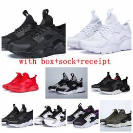 sale retailer 3d506 24afd Nike Air Huarache Venta caliente Hombres Mujeres Air Huarache IV 4 Run  Ultra Zapatos Corrientes Gris