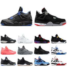 99d05158c91d Bred 4s basketball shoes for men WINGS PALE CITRON BLACK CAT fire red PURE  MONEY WHITE CEMENT ROYALTY 4 mens sports sneakers