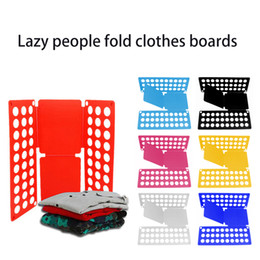 Shirt Folders Australia - Magic Save Time Clothes Folding Board T Shirts Dress Pants Quick Folder Board Adult Clothing Storage Home Storage Organizer