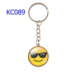 $enCountryForm.capitalKeyWord Australia - 74 Styles Alloy Keychains Various Smiley Face Expression Car Keychains Time Gem Single Side Cartoon Games Bags Keychain KC089