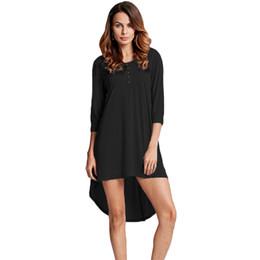 032cfca1c87 Anself 5XL Plus Size T-shirt Dress Fashion Women Tunic Basic Casual Dress  Button O Neck Half Sleeve Irregular Hem Mini