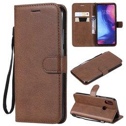 Color Leather Bags Australia - For Xiaomi Redmi Note 7 Case Flip Cover Wallet Stand Pure Color PU Leather Mobile Phone Bags Coque Fundas