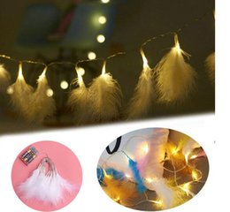 Feather For Birthday Party Decoration Australia - Christmas Led Lights fairy lights Christmas feather string light garland led curtain for wedding home party birthday decoration