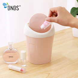 Glossy Paper Roll Australia - wholesale Mini Trash Can Rolling Cover Tape Car Waste Bin Home Office Bathroom Desktop Garbage Paper Basket Trash Container