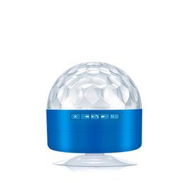 $enCountryForm.capitalKeyWord Australia - 2019 Hot Sale AQ9 Mini Crystal Magic Ball Bluetooth Speaker Sucker Portable LED Stage Light Bluetooth Audio