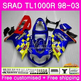 fairings srad Australia - Injection For SUZUKI SRAD TL 1000 R TL1000R 98 99 00 01 02 03 16HM.12 TL1000 R TL 1000R 1998 1999 2000 2001 2002 2003 Movistar Blue Fairing