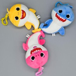 Red Figures Australia - 13cm Baby shark Stuffed plush dolls pendant 2019 New Small size sharks Action Figure Keychain Toys Kids Christmas Party Best Gifts C22