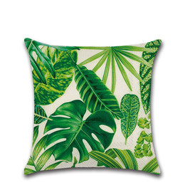 $enCountryForm.capitalKeyWord UK - Tropical Plants Pillow Case Polyester Decorative Pillowcases Green Leaves Throw Pillow Case kussensloop almohada poszewka #C