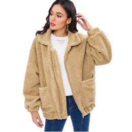 Ladies imitation fur coats online shopping - Winter fur women short artificial fur coat imitation rabbit coat female long sleeve ladies jacket XL
