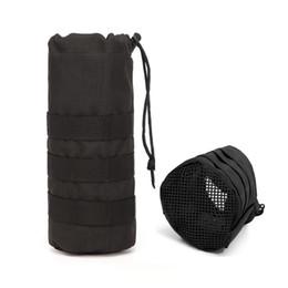 Discount water bottle belt holder - For Backpack Belt Hiking Outdoor Nylon Waist Travel Drawstring Insulated Holder Camping Portable Climbing Water Bottle P