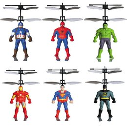 $enCountryForm.capitalKeyWord NZ - RC Helicopter RC infrared Induction Captain America Hulk Spider-Man aircraft RC flying ball flying toys kids toys Led toys send by EMS