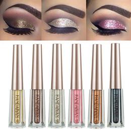 Eight Diamonds Australia - Diamond Glitter Eyeshadow HANDAIYAN 12 Colors Liquid Eyeshadow Eyes Makeup Long Lasting Shimmer Shiny Metallic Eye Shadow