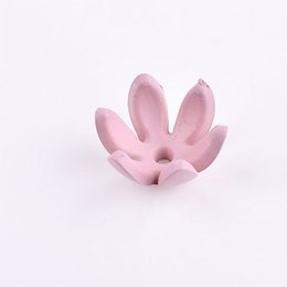 Jade Hair UK - American Flower Ear Nail Six Petal Petal Hand Diy Ear Ring Material Hair Decoration Fashion Ear Nail