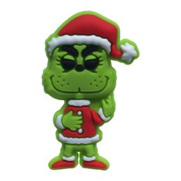 christmas brooch wholesale Australia - MOQ=25PCS How the Grinch Stole Christmas PVC Cartoon Figure Icon Brooch Pins Badges Cute Pin Button Badge Pinback School Bags Clothing Caps