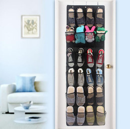 space saving shoe holder 2020 - 24Pocket Shoe Organizer Door Hanging Shoes Storage Wall Bag Closet Holder Family Save Space Organizador Home Decoration