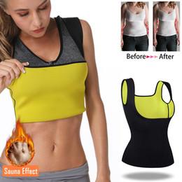 Slimming Sauna Vest Australia - Thermo Top Neoprene Body Shaper Woman Cincher Sweat Waist Trainer HOT Sauna Shapewear Push Up Vest Slimming Corset