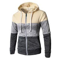Wholesale zip hoody jackets online – oversize 2019 Newest Men Zip Up Casual Elastic Sweater Coat Tops Jacket Outwear Sweater Jogger Zipper Men Autumn Winter Hoody Sweatercoat