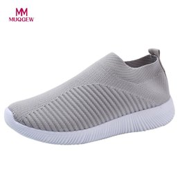 Comfortable Soft Women Shoes Australia - Women Mesh Flat Shoes Fashion Sneakers Casual Slip On Comfortable Soles Outdoor Running Sports Shoes Female Soft Mesh Flats