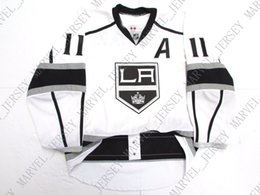 "anze kopitar jersey cheap NZ - Cheap custom Anze Kopitar #11 LOS ANGELES KINGS AWAY JERSEY WITH ""A"" stitch add any number any name Mens Hockey Jersey XS-5XL"