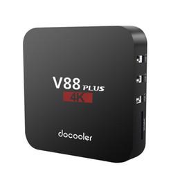 android smart tv quad 2019 - Docooler V88 Plus TV BOX for Smart tv Android 8.1 RK3229 Quad Core 4K 1080P Set Top Box 2GB16GB WiFi LAN HD Media Player