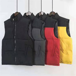 Wholesale Famous Mens Down Men Women Stylist Winter Jacket Coat Mens High Quality Casual Vests Mens Stylist Down 4 Colors Size S-XL