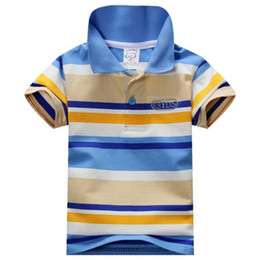 $enCountryForm.capitalKeyWord Australia - Fashion New Summer Baby Children Boys Striped T-shirts Kids Tops Tee Polo Shirts 1-7 Years